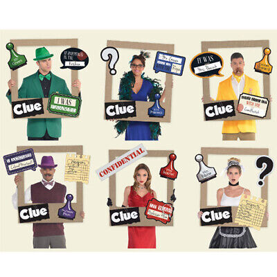 CLUE GAME GIANT CUSTOMIZABLE PLAYING CARD PHOTO FRAME ~ Birthday Party - Giant Playing Card Decorations