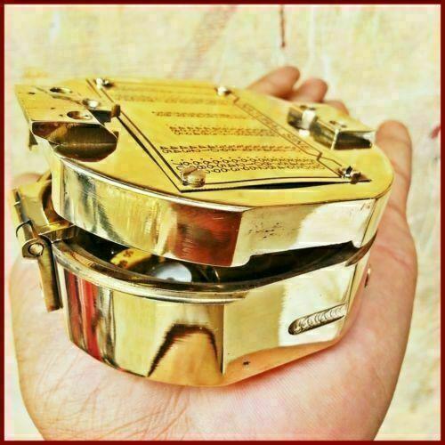 Antique Maritime Brass Vintage Brunton Compass Nautical Direction handmade gift