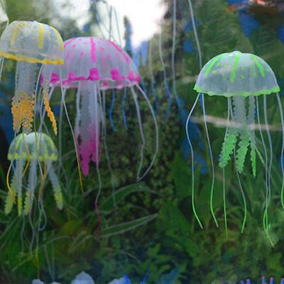 Nice Beauty Artificial Fake Jellyfish Ornament For Aquarium Fish Tank 6 Colors