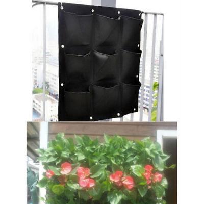 6 Pocket Vertical Garden Planter Wall-mounted Planting Flower Grow Bag New