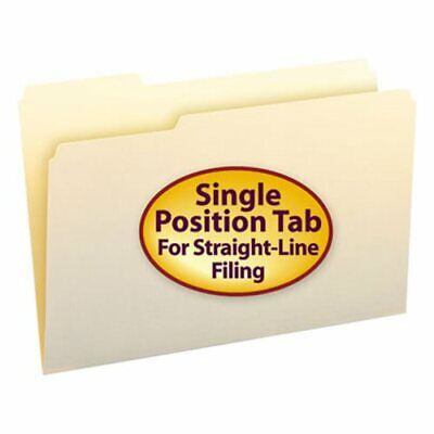 Smead Manila File Folders 13 Cut First Position Legal 100box Smd15331