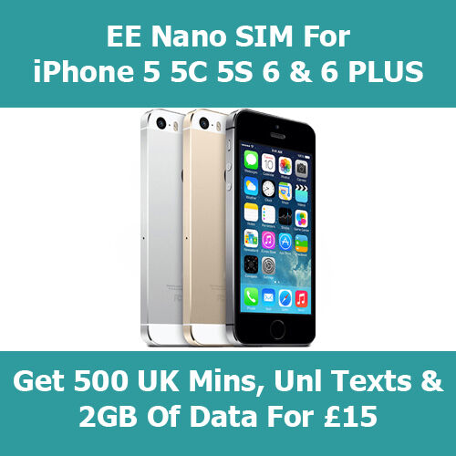 EE 4G PAYG Trio 3 In 1 SIM Card For All Smart Phones - Get 5GB Data For Free