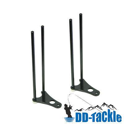 2 x Alu Snag Bar Ear Rod Pod Bissanzeiger Rutenhalter Bank Stick Rutensicherung
