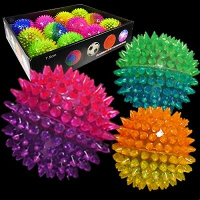 Flashing Spiky 2 tone Bouncy Ball Assortment Bulk (Pack of 24) - Bouncy Balls Bulk