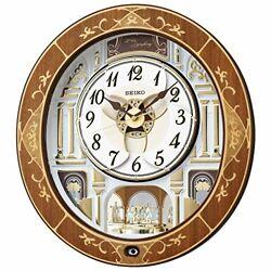 Seiko Clock Table Clock, Wall Clock Natural Color Wooden Base 46.3 × 42.5 × 10.6