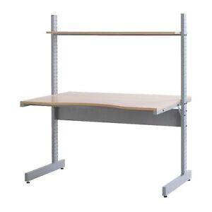 IKEA JERKER Meuble bureau ordinateur bouleau