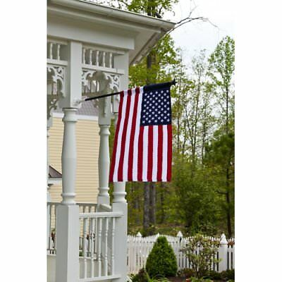 "Evergreen American Flag Double sided Applique House Flag 28"" X 44"""