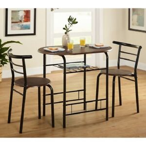 Bistro Set Table Chairs Small Kitchen Dining Room Breakfast Nook Apartment Compa