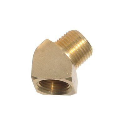 Brass Pneumatic Air Compressor Fitting 45 Degree Street Elbow Connector Adapter