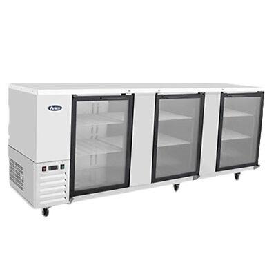 Atosa Mbb90g 90 Triple Glass Door Stainless Steel Back Bar Refrigerator