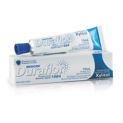 Medicom Duraflor Sodium Fluoride Varnish 5 Yellow Bubblegum 10 Ml Tube