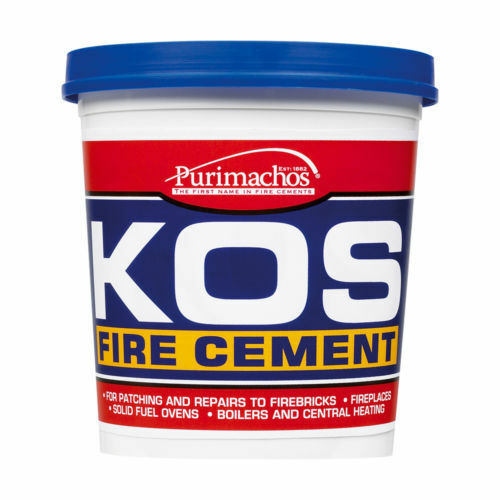 KOS FIRE CEMENT BUFF EVERBUILD BRICK FURNACE STOVE 500G/1KG/2KG/6KG/12.5KG/25KG