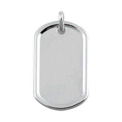 USA Seller Dog Tag Pendant Genuine Sterling Silver 925 Dimensions 31 mm x 19 mm 925 Sterling Silver Dog Tag