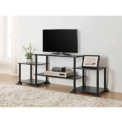 Unique Black Tv Stand Table Mainstays Entertainment Center For Tvs 15  Up To 40