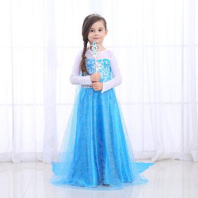 Fancy Dresses For Little Girl (Frozen Inspired Elsa Princess Dress - Little Girl's Princess Fancy Dress)