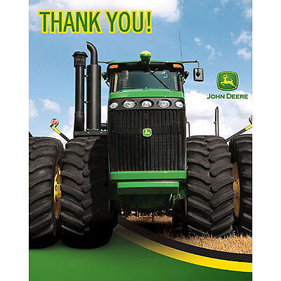John Deere Tractor Thank you notes Birthday Party Supplies Farm Equipment](John Deere Birthday Party Supplies)