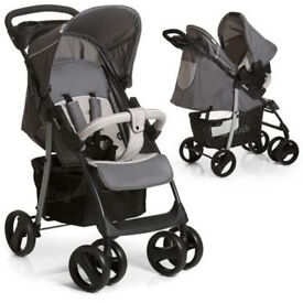 Exdisplay Hauck 2 in 1 travel system pram pushchair grey shopper with car seat ONLY £99