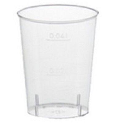 sgläser 4 cl, Kunststoff, 40er Plastikgeschirr, Shots Gläser (Klare Plastik-schnapsgläser)
