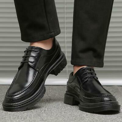 Details about  /Mens Oxford Business Leisure Leather Shoes Pointy Toe Lace up Fomal Party Flats
