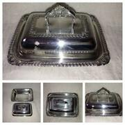 Silver Plated Butter Dish