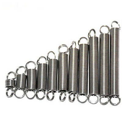 0.3/0.5mm Wire Diameter 10-60mm Length Extension Tension Spring Stainless Steel