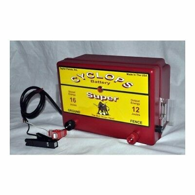 Cyclops Super 12v Batterydc Powered 12 Joule Electric Fence Charger