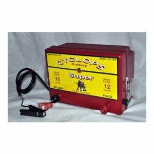 Cyclops SUPER, 12V Battery/DC Powered, 12 Joule Electric Fence Charger