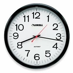 Lorell Radio Controlled Wall Clock - Digital - Quartz - Atomic (LLR60994)