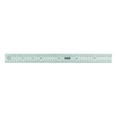 "6"" FLEXIBLE SCALE STEEL RULER 1/32, 1/64, 1/10, 1/100"" GRAD. GENERAL TOOLS #616"