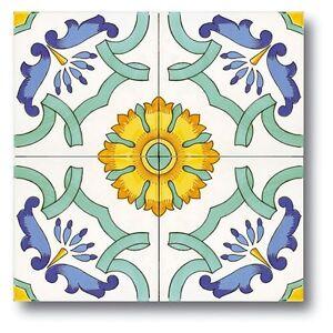 Piastrelle 20x20 decorate a mano ceramica vietri consegna - Piastrelle decorate a mano ...