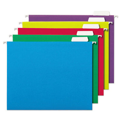 Deluxe Bright Color Hanging File Folders Letter Size 15-cut Tab Assorted