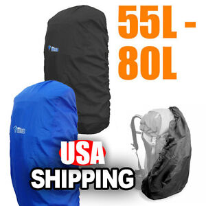 55-80L Camping Hiking Backpack Rucksack Bag Cover Waterproof Rain-proof Resist