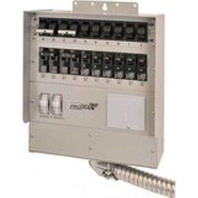 510c Protran2 50-amp 10-circuit2 Manual Transfer Switch With Watt Meters