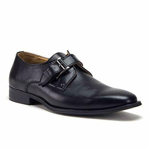 Jazame Men's D-496 Urban Monk-Strap Loafers Dress Shoes