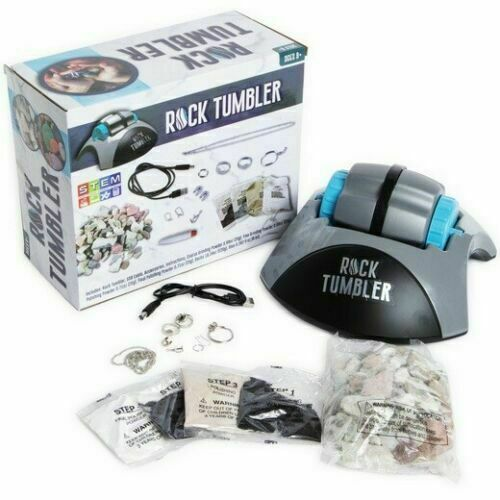 Rock Tumbler, Polishing Kit - Complete Collection By STEM - Ages 8+  New in Box