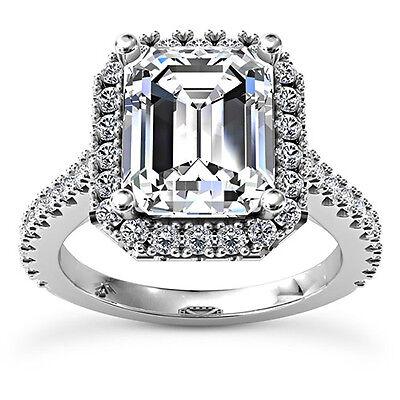 2 CT G VS2 14k White Gold Emerald Cut Diamond Solitaire Engagement Ring 2 Ct Diamond Solitaire Engagement Ring