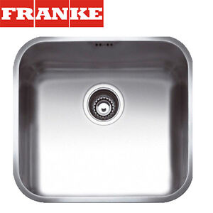 FRANKE Gax 110-45 1 Bowl Stainless Steel Undermount Kitchen Sink Waste&Overflow