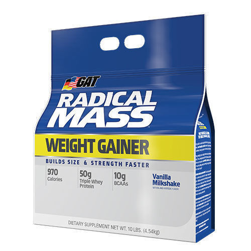GAT RADICAL MASS 10LB WEIGHT GAINER PROTEIN WHEY PROTEIN COM