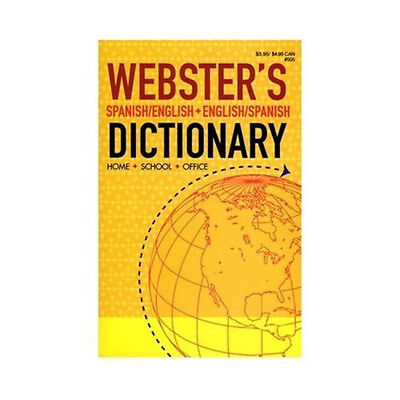 Back To School Special Websters Spanish English   Eng Span Paperback Dictionary