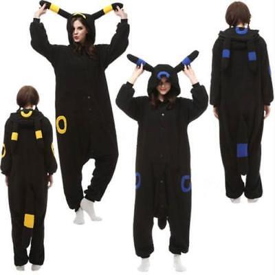 Hot Unisex Pokemon Umbreon Pyjamas Anime Kigurumi Cosplay Kostüm Erwachsene DE (Erwachsene Pyjamas)