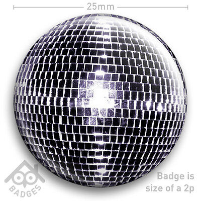 Disco Ball Fancy Dress Kostüm (DISCO MIRRORBALL Mirror Glitter Ball 70s Men's Women's FANCY DRESS 25mm 1