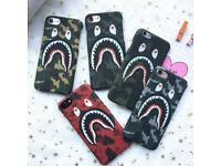 Supreme, Bathing Ape bape iphone 5 6 7 8 Plus cases Samsung galaxy s6 s7 s8 case covers