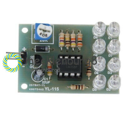 LM358 CHIP 8 LED 12V BREATHE LIGHT LED FLASHING LAMP PARTS ELECTRONIC MODULE