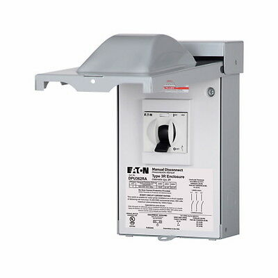 Eaton DPU362RA - Air Conditioning Disconnect, 3 Phase, 60 Amp, Non-Fuse