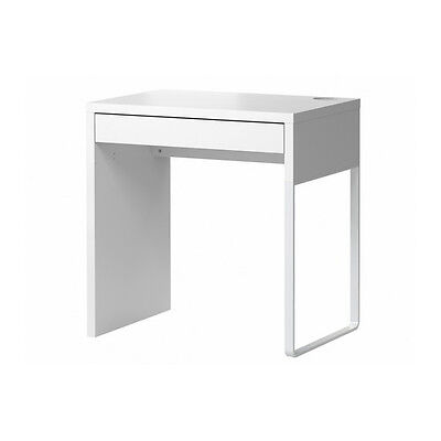 Ikea Micke Computer Desk   1 Drawers   Makeup Dressing Table   White