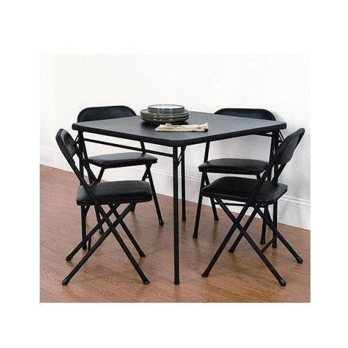 folding card table chairs ebay. Black Bedroom Furniture Sets. Home Design Ideas