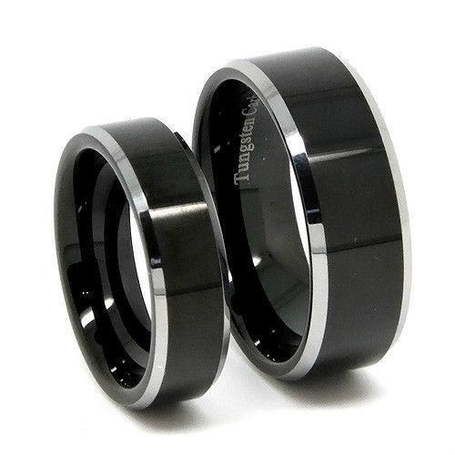 wedding ring bands for her his and hers tungsten wedding bands ebay 9934