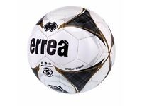 Errea Stream Power FIFA quality Match Football size 5 black/white/gold
