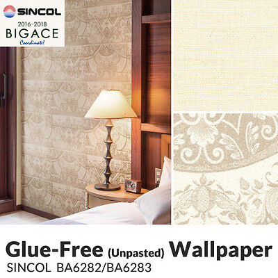 Unpasted Anti Fungal (Mold) Vinyl Wallpaper (Bigace/BA-6283) sheet/roll