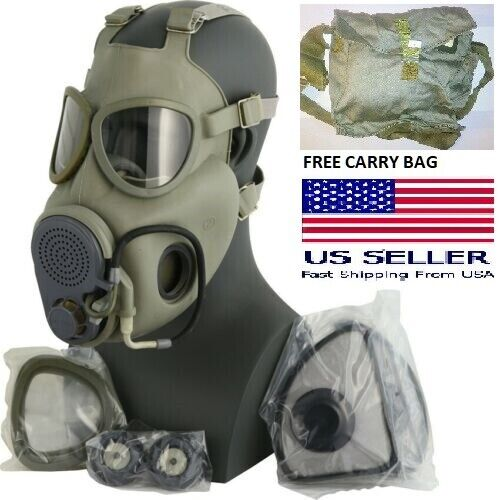 Military Czech Full Face NBC Filters Gas Mask Respirator M10M Drinking Tube +Bag